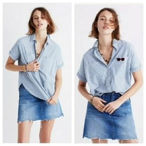 Madewell Courier Striped Button Down Shirt